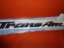 PONTIAC TRANS AM DOOR EMBLEM NAME PLATE NOS GM 10287123 BLUE OEM