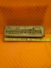 Vintage Wooden Pencil Box..1893 Chicago Worlds Fair Columbian..J13