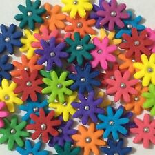 Edible Sugar Blossoms Cake Toppers - Mix Colors X 100