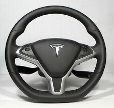 TESLA Model S NOS Steering Wheel Complete OEM Controls + Column Cowl Components