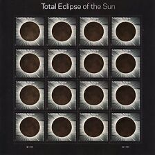 US 2017 SOLAR #5211 TOTAL ECLIPSE OF THE SUN 16 MXF FOREVER STAMP SHEET w/SLEEVE