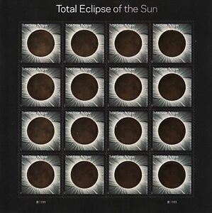 TOTAL ECLIPSE OF THE SUN US 2017 SOLAR SPACE #5211 FOREVER STAMP SHEET w/SLEEVE
