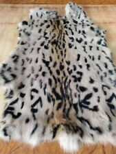 1pcs Genuine Rabbit Fur Pelt Skin Leopard Animal Print Leather Hide Craft Soft