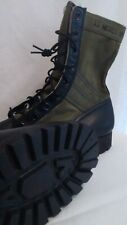 Jungle Boots Olive Drab Vibram Sole November 1965 Size 11 Narrow Nos Condition!