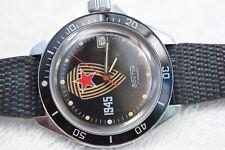 Silberfarbene russische Wostok/Vostok Herrenarmbanduhr