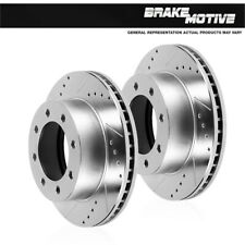 For 2013 2014 2015 2016 2017 Ford F-250 F-350 Rear Drilled Slotted Brake Rotors