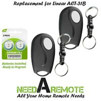 2 For Linear Megacode ACT-31B ACP00879 Mini Key Chain Garage Door Remote Control