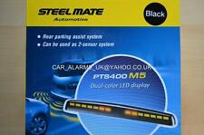 Steelmate LED Display Audio Buzzer Parking Sensor Kit of 4 MATT BLACK PTS400-M5