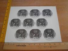 Motley Crue 1981 Vintage uncut button sheet Shout to the Devil