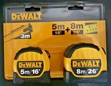 DeWALT Twin 2 Pack Tape Measure Measuring 5m & 8m Gift Set 3m Reach DWHT81559-0