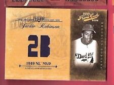 JACKIE ROBINSON GAME USED JACKET CARD #24/42 2004 PRIME CUTS 1949 NL MVP DODGERS
