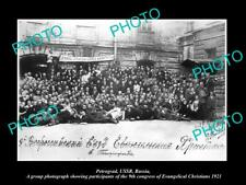 Old Large Historic Photo Of Petrograd Russia Evangelical Christian Congress 1921