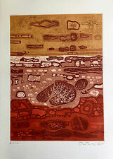 """Gabor Peterdi - """"AN ISLAND GALAXY"""" - Etching from deluxe edition of """"A Genesis"""""""