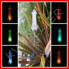 4-Pieces Solar Powered Lighthouse Garden Yard Stake Pathway Lawn Light LED Sun i