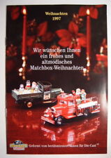 MATCHBOX COLLECTIBLES MODELS OF YESTERYEAR catalogo Natalizio 1997