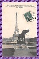 CPA 75 - PARIS - La tour Eiffel et grande roue
