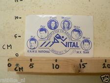 STICKER,DECAL MX TEAM VITAL KNWU NATIONAL ROB,PHIL,CORINE,MELANIE,WILCO,MARCO CY