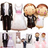 Wedding Ceremony Dress Suit Bride Groom Engagement Anniversary Marriage Balloon