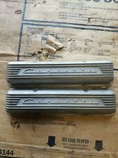 "OEM GM Finned Aluminum Valve Covers 59-67 Corvette 283 327 3767493 No Flaw ""O"""