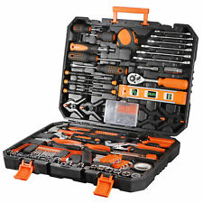 168 Pcs Hand Tool Set General Household Hand Tool Kit with Plastic Toolbox Case