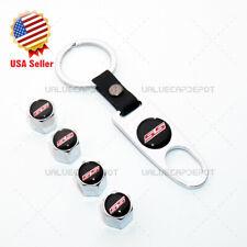 Universal Sport Car Wheel Tire Valve Dust Stem Air Cap Keychain Ss Logo Emblem