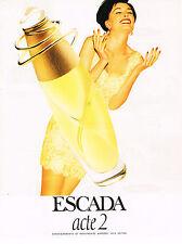 PUBLICITE ADVERTISING 014   1995   ESCADA   pafrum  ACTE 2