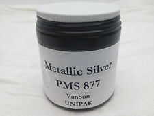 VanSon PMS 877 Metallic Silver Unipak Oil Based Ink for Printing Press (3.2oz.)