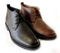 """NEW  """"FERRO ALDO"""" MENS ANKLE BOOTS LEATHER LINED LACE UP DRESSY SHOES / 2 COLORS"""