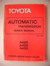 Toyota Automatic Transmission Repair Manual A40D-42-43