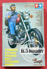 1/12 YAMAHA XV1000 VIRAGO Motorcycle w/TOURING RIDER- High Detail Factory Sealed
