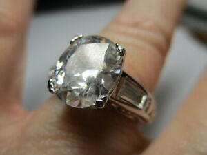 STERLING SILVER ROSS SIMONS OVAL CUBIC ZIRCONIA WITH ACCENTS RING SIZE 7