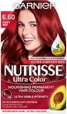Garnier Nutrisse Red Hair Dye Permanent, Grey Hair Coverage, Fiery Red Colour