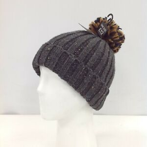New Next Hat Beanie One Size Knitted Bobble Grey Men's Outdoor Wear 471330