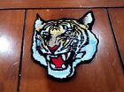 New Tiger Head Animal Punk Embroidered Cloth Patch Applique Badge Iron Sew On