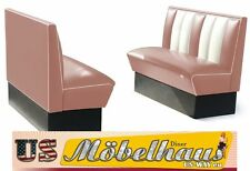 2hw120d American Diner Bench Seating Furniture 50´s USA Style Catering