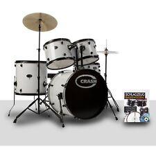 Batería Acústica Blanca para Adultos 8 Pezzi Completa de Todo CD con