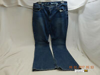 DKNY MADISON JEANS-SIZE 14R/R! FLARED, FADED, STAINED, A BIT DISTRESSED! AS IS!