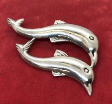 Vintage Sterling Silver Brooch Pin 925 Dolphin Fish Animal 9 Grams