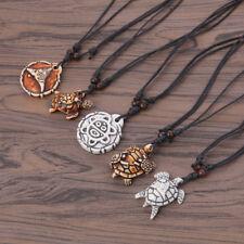 1pc Vintage Turtle Pendant Necklace Bone Animal Unisex Women Cute Jewelry Gift