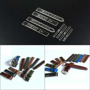 Transparent Acrylic Watch Strap Band Stencil Template DIY Leather Craft Tool^qi