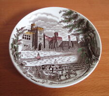 "Johnson Bros Old Britain Castles Haddon Hall Coaster Brown Multi 4 1/4"" England"