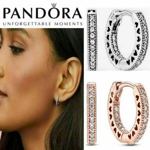 New Genuine Pandora Hoop Earrings Stub  Sterling Silver Gift Box - 296317CZ AU