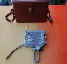 Vintage Admica 8F Cine Movie Camera, Leather Case TV/Film Prop/Room Styling Item