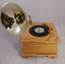 VNTG Music Box Wooden Brass Gramophone Melodies Willits Inc Music! Music! Music!