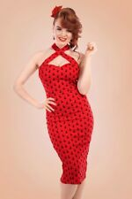 COLLECTIF cherry red PENNY pencil wiggle 50's pin up dress 16_18  44 Us 12