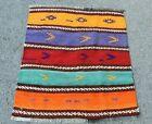 Colorful Stripe Design Ethnic Rug Turkish Handmade Nomadic Kilim Rug 2.1x2.5 ft.