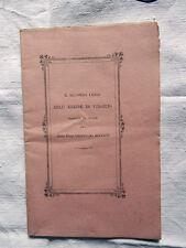 Il Secondo Libro Dell'Eneide Di Virgilio Bocconi Lucca 1893 Libro Antico