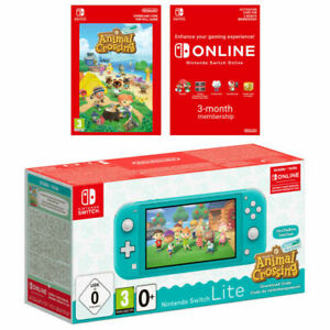 Nintendo Switch Lite Turquoise & Animal Crossing Game - Brand New & Sealed