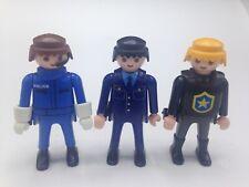 Playmobil Figures Set of 3 Men Figures Male Police