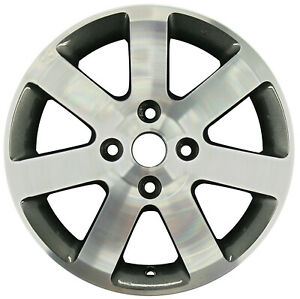 62472 Reconditioned Factory OEM 16X6.5 inch Wheel, Machined w/Dark Charcoal